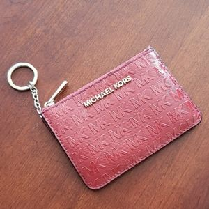 Michael Kors Coin ID Card holder Keychain wallet